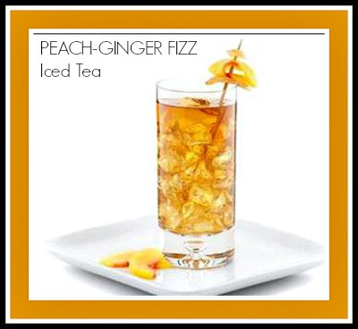 peach ginger fizz iced tea