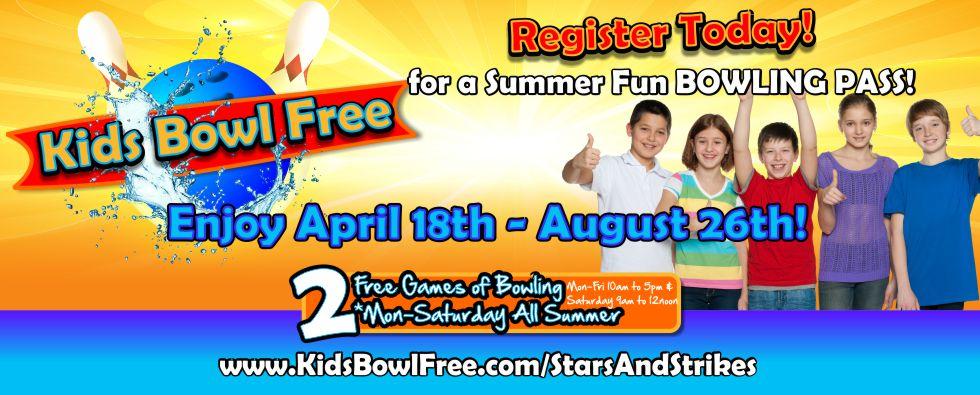 Kids Bowl Free Stars and Strikes