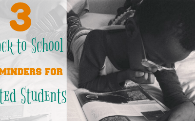 3 Back to School Reminders for Gifted Students #KidGoals #ad