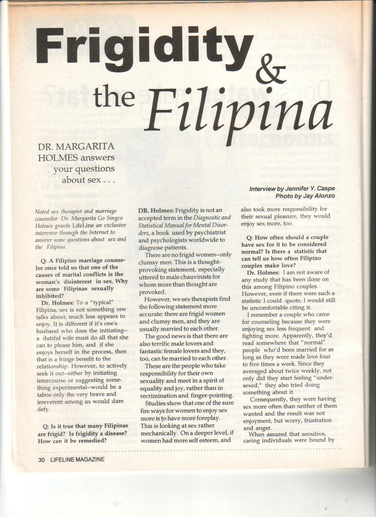 3-98 Frigidity & the Filipina
