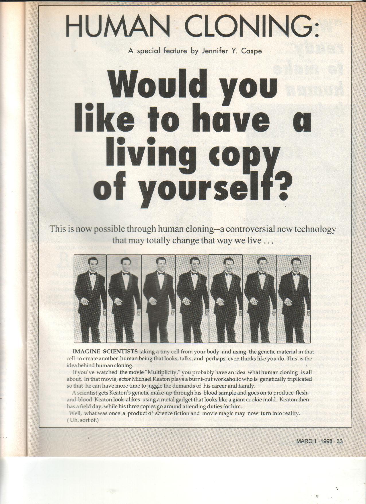 3-98 Human Cloning
