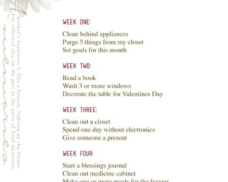 February 2016 MOMentum Challenge Calendar