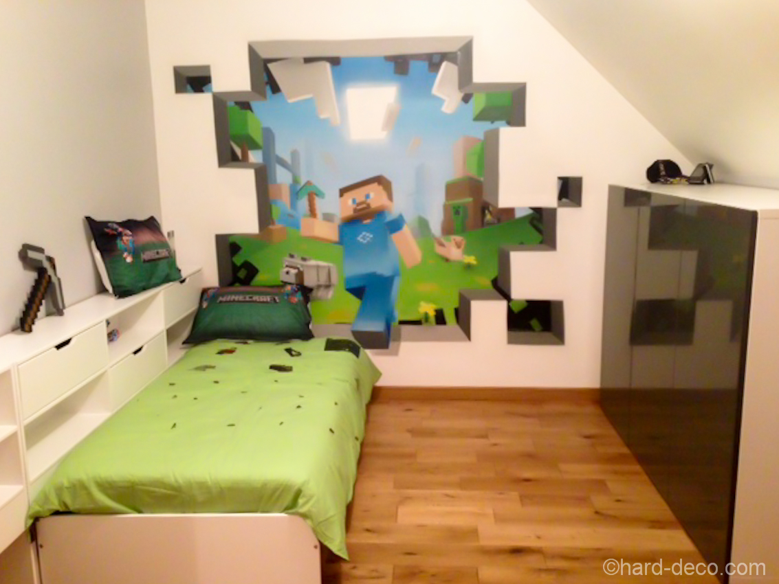Deco Chambre Gamer Amazing Minecraft Bedroom Decor Ideas Moms Approved