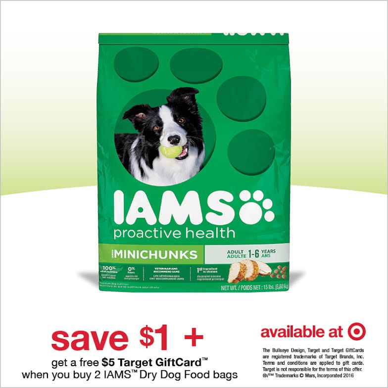 Target IAMS Dog Food Gift Card Deal + Printable Coupon! - Mom Saves