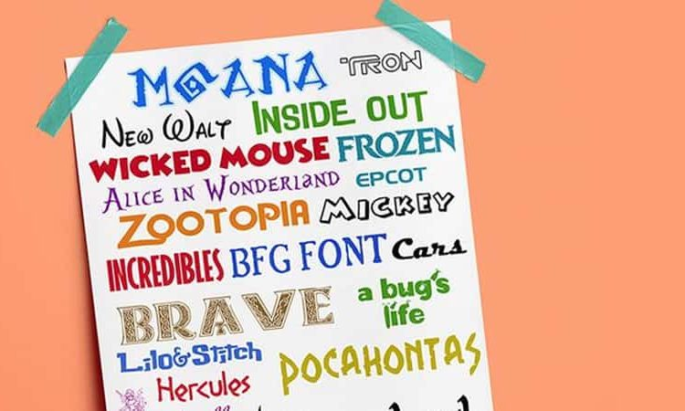 39 FREE DISNEY FONTS - Moana, BFG, Zootopia + More Favorites