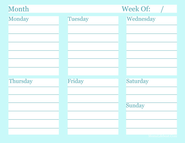 weekly to do list template Archives -