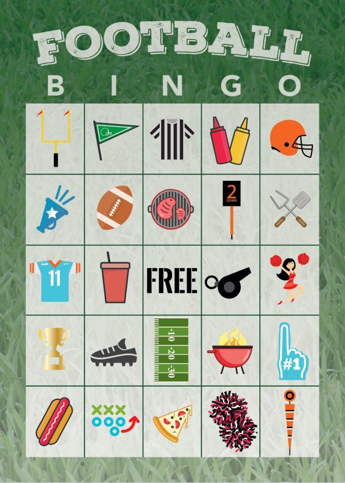 Free Printable Football Bingo Game - The Shirley Journey