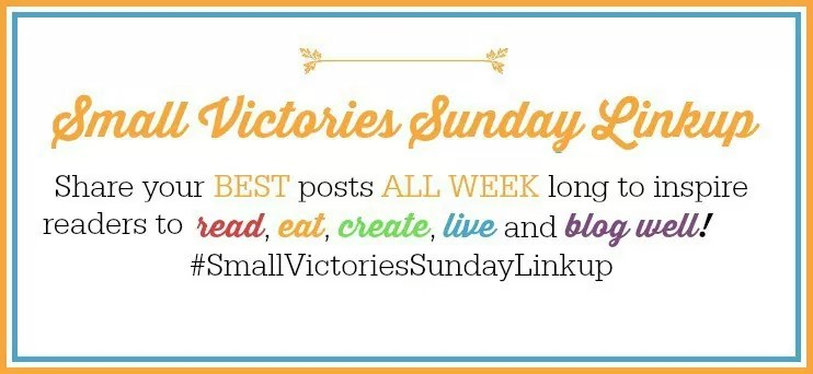 Happy Fall! Join us for Small Victories Sunday Linkup and share your best fall recipes, reading lists, crafts, decor, life & blog hacks.