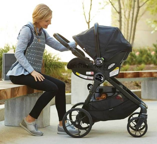 Jogger Stroller With Bassinet Baby Jogger City Premier 2017 Stroller Review Mom 39;s