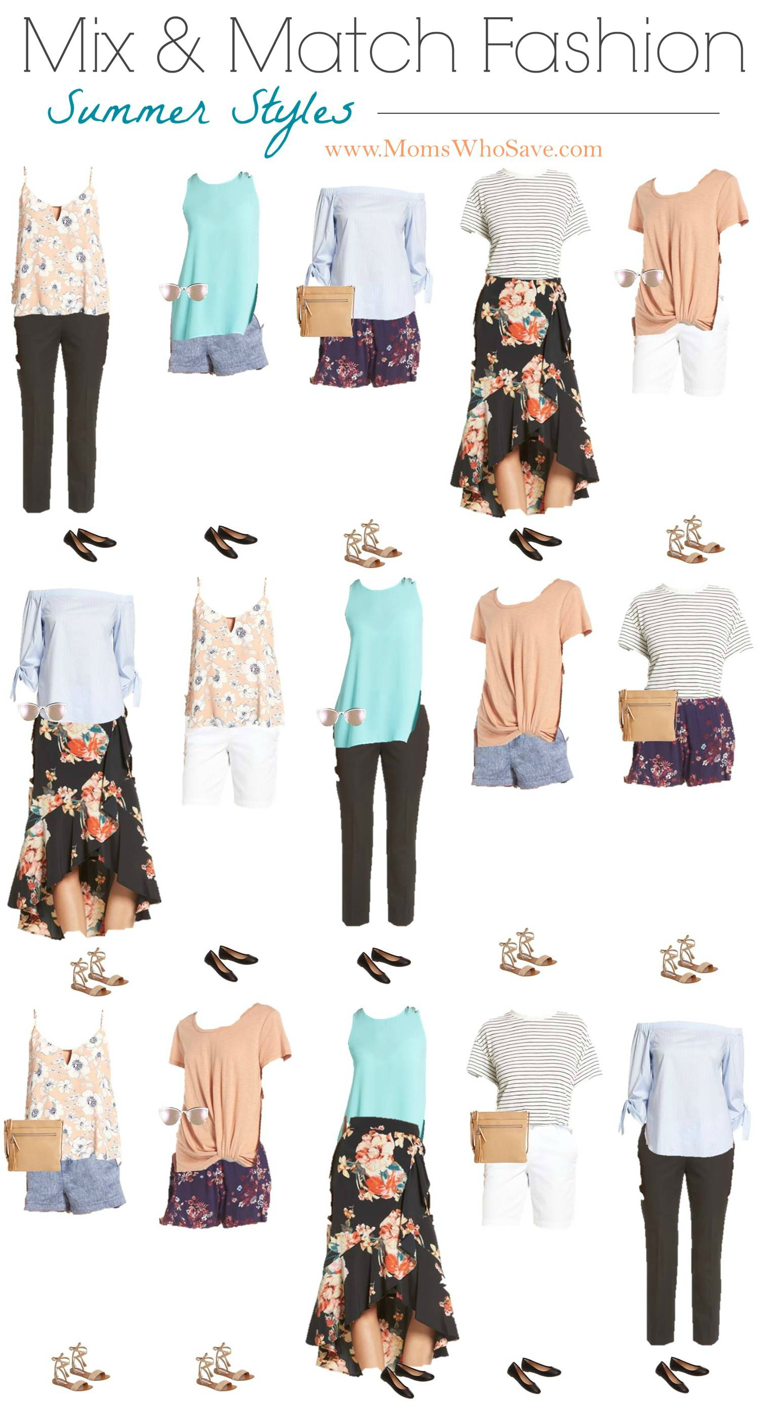 Mix And Match Mix Match Summer Fashion Capsule Wardrobe Momswhosave