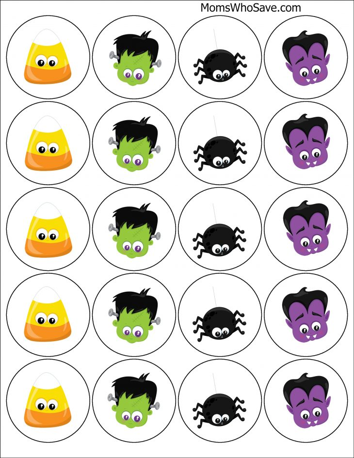 Free Printable Halloween Cupcake Toppers MomsWhoSave