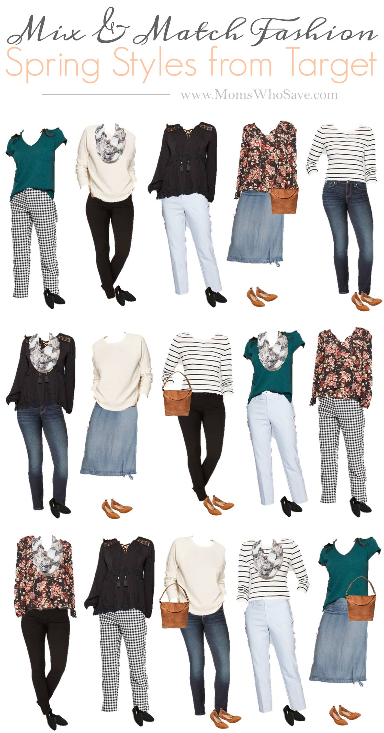 Mix And Match Mix Match Fashion An Affordable Spring Capsule Wardrobe
