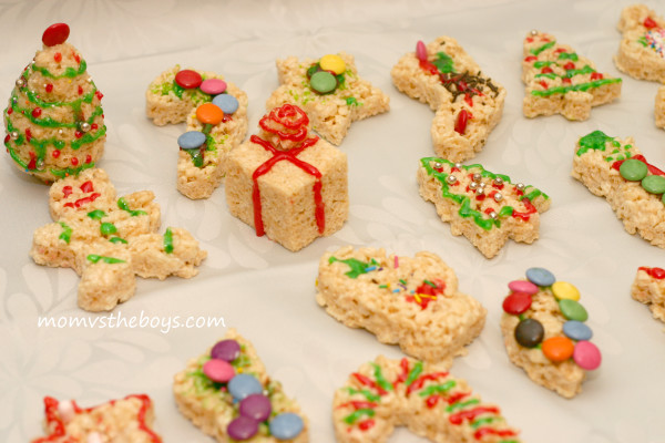 Holiday Rice Krispie Treats Mom Vs The Boys