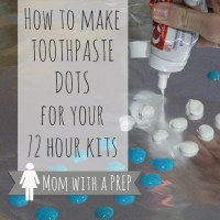 How to Make Toothpaste Dots for Your Emergency Kits