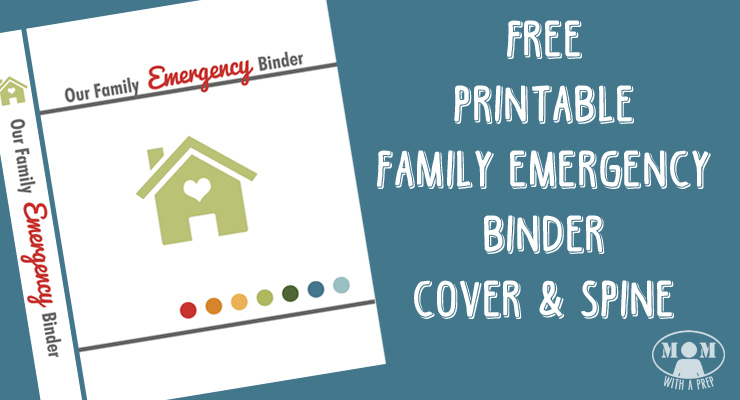 Free Family Emergency Binder Cover Printable - Mom with a PREP