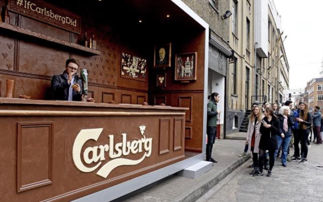 bar en chocolat carlsberg