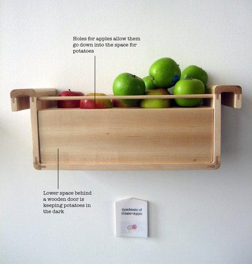 rangement des pommes