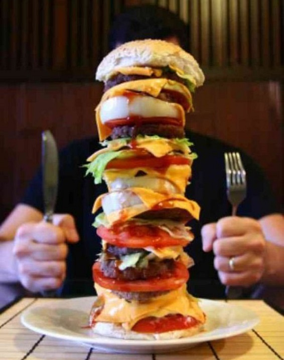 Giant burger funny