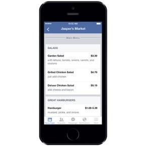 Restaurateurs : votre menu sur Facebook