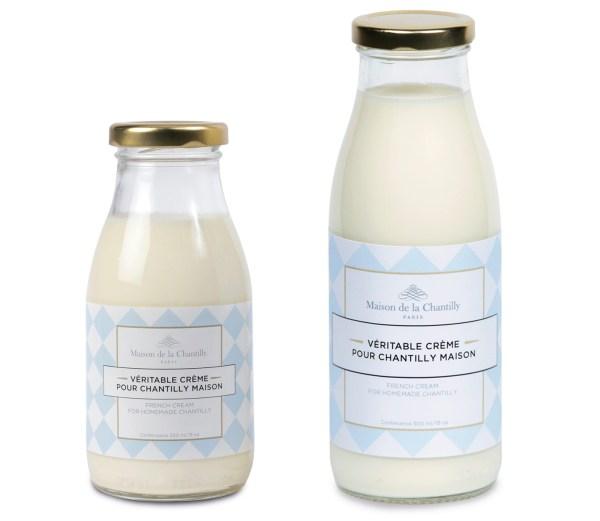 crème chantilly, Maison de la Chantilly, bouteille, préparation
