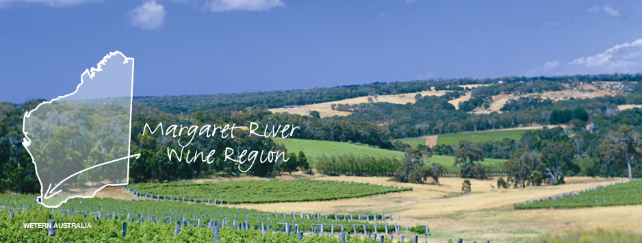 photo et plan de la région viticole margaret river en australie