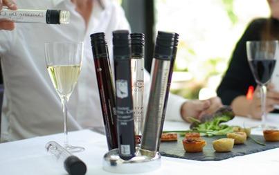 flacons de vin