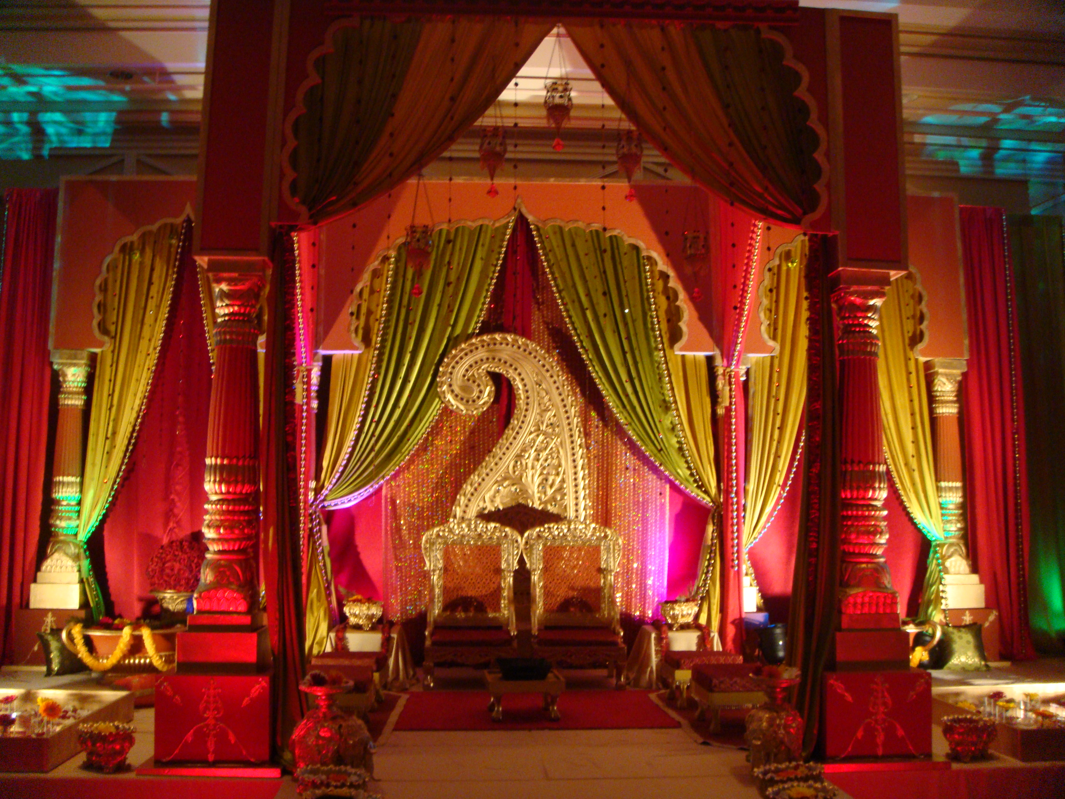 Indian Style Decor Indian Wedding Decorations Mona Bagla