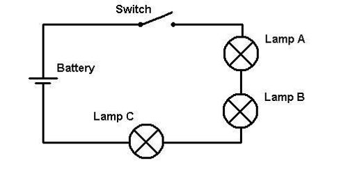 circuit diagram with light bulbs