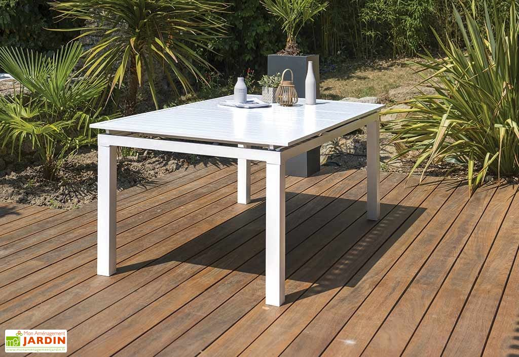 Table Exterieur Verre Rallonge | Table De Jardin A Cora