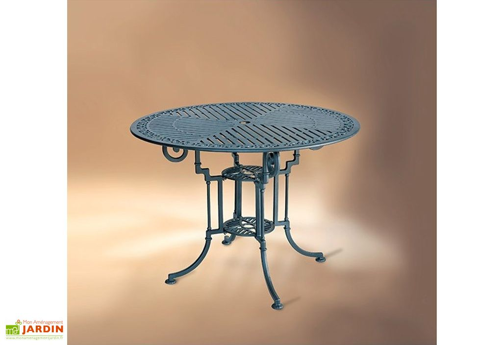 Table De Jardin Pvc Table De Jardin Ronde Aluminium Teide-marbella 90cm