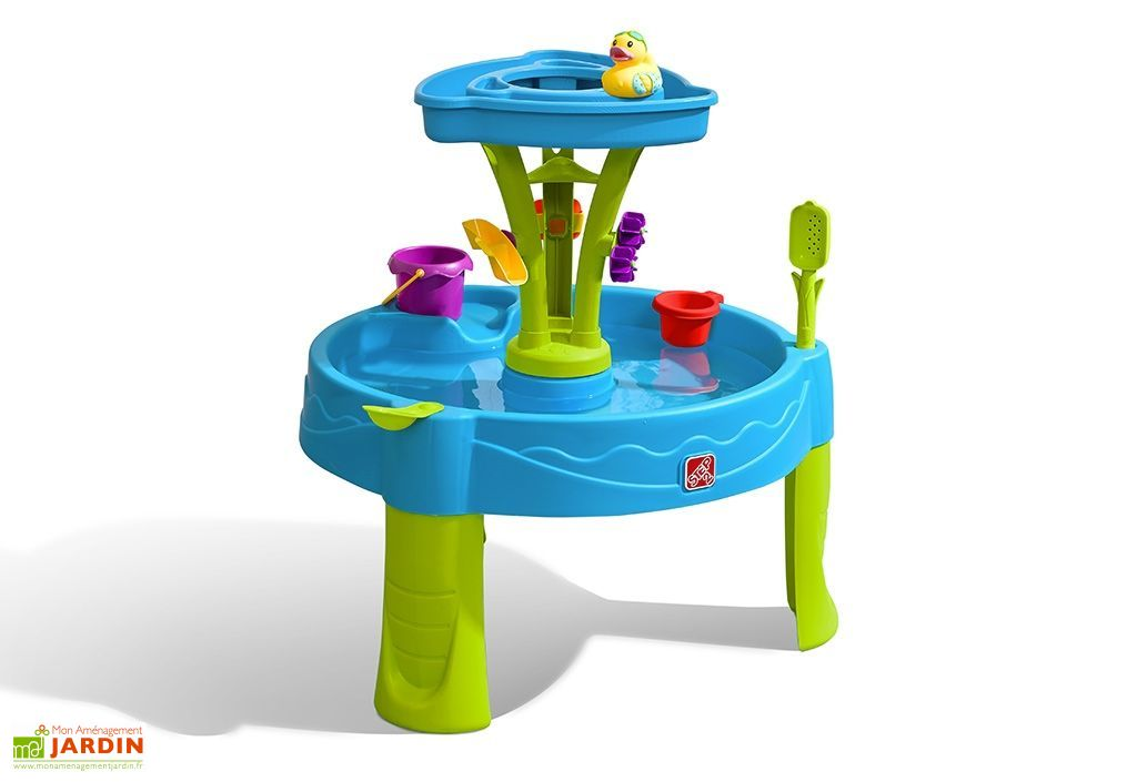 Bain De Soleil En Plastique Table De Jeux D'eau Douche Splash Tower - Step2