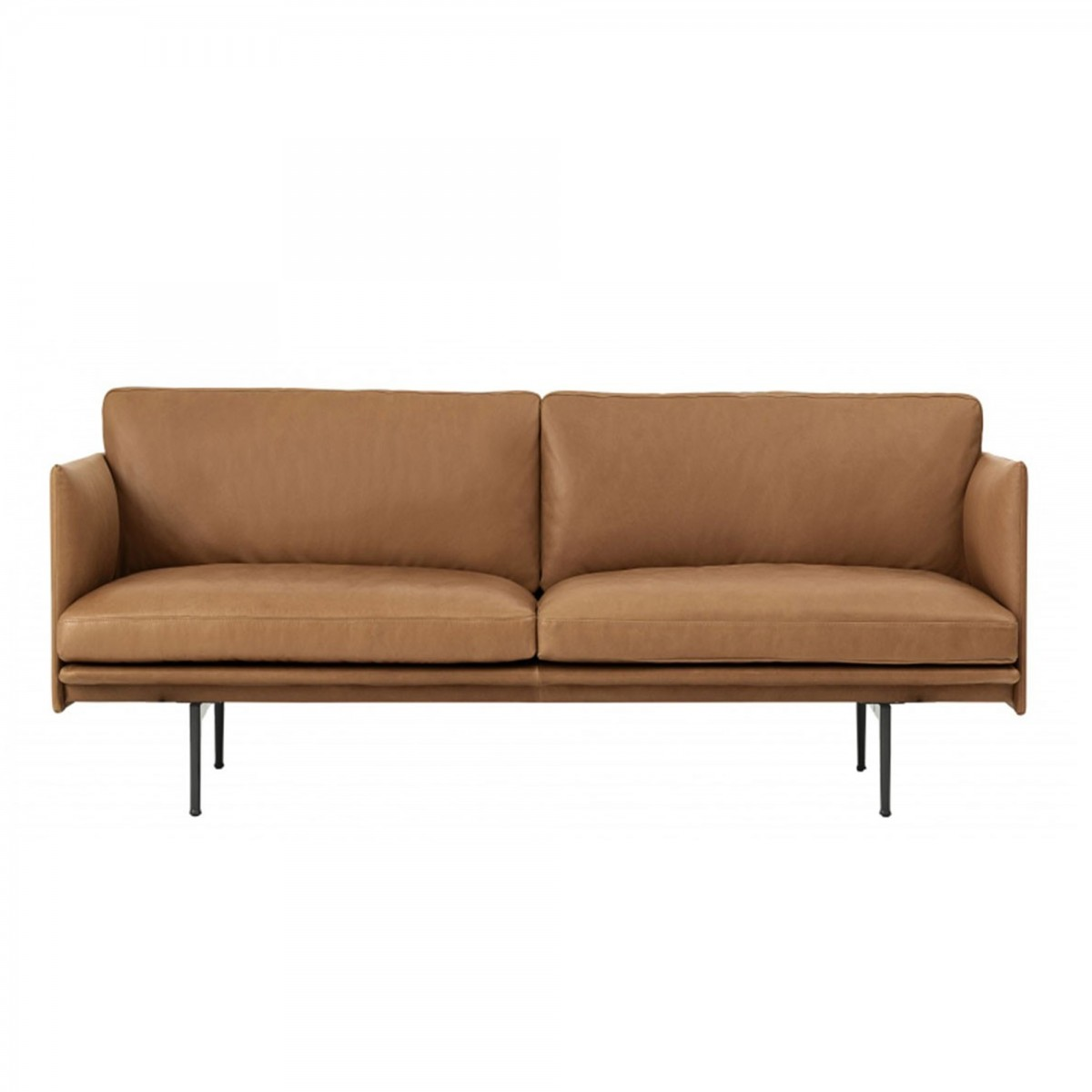 Interio Bettsofa Fiftynine Couch Fr Seater Sofa In Savoy Semianiline Leather Platin Black N