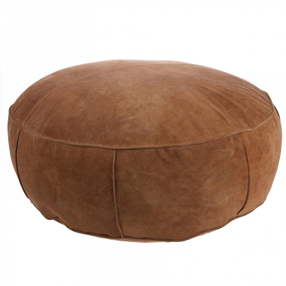Pouf Xl Suede Pouf Dark Brown Xl By Ferm Living