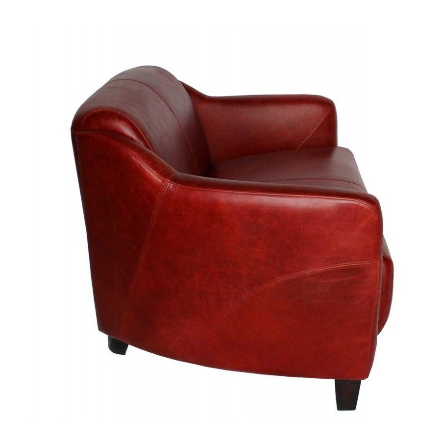 Fauteuils Chesterfield Rouge Canape Style Club Anglais 2 Places London En Cuir Rouge Vintage