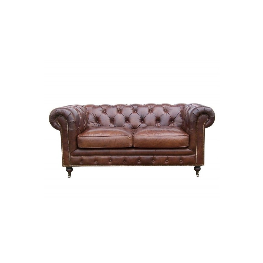Canapé Chesterfield 2 Places Le Canapé Chesterfield En Cuir Marron 2 Places