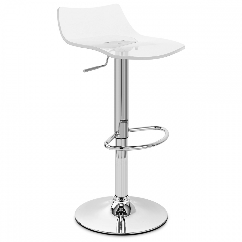Tabourets De Bar Alu Chaise De Bar Acrylique Chrome Crystal