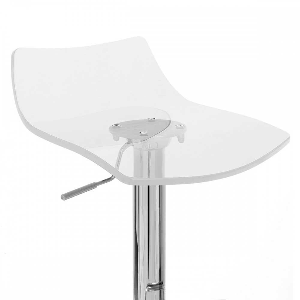 Tabouret De Bar Plastique Transparent Chaise De Bar Acrylique Chrome Crystal