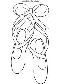 Scarpe da ballo da colorare  Mondo Bimbo