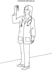 Dottori disegni da colorare  Mondo Bimbo