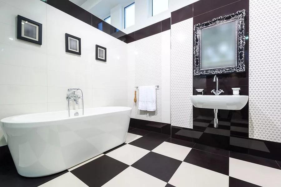 Black And White Marble Wallpaper Bagno Bianco E Nero 20 Idee Di Arredo Originali