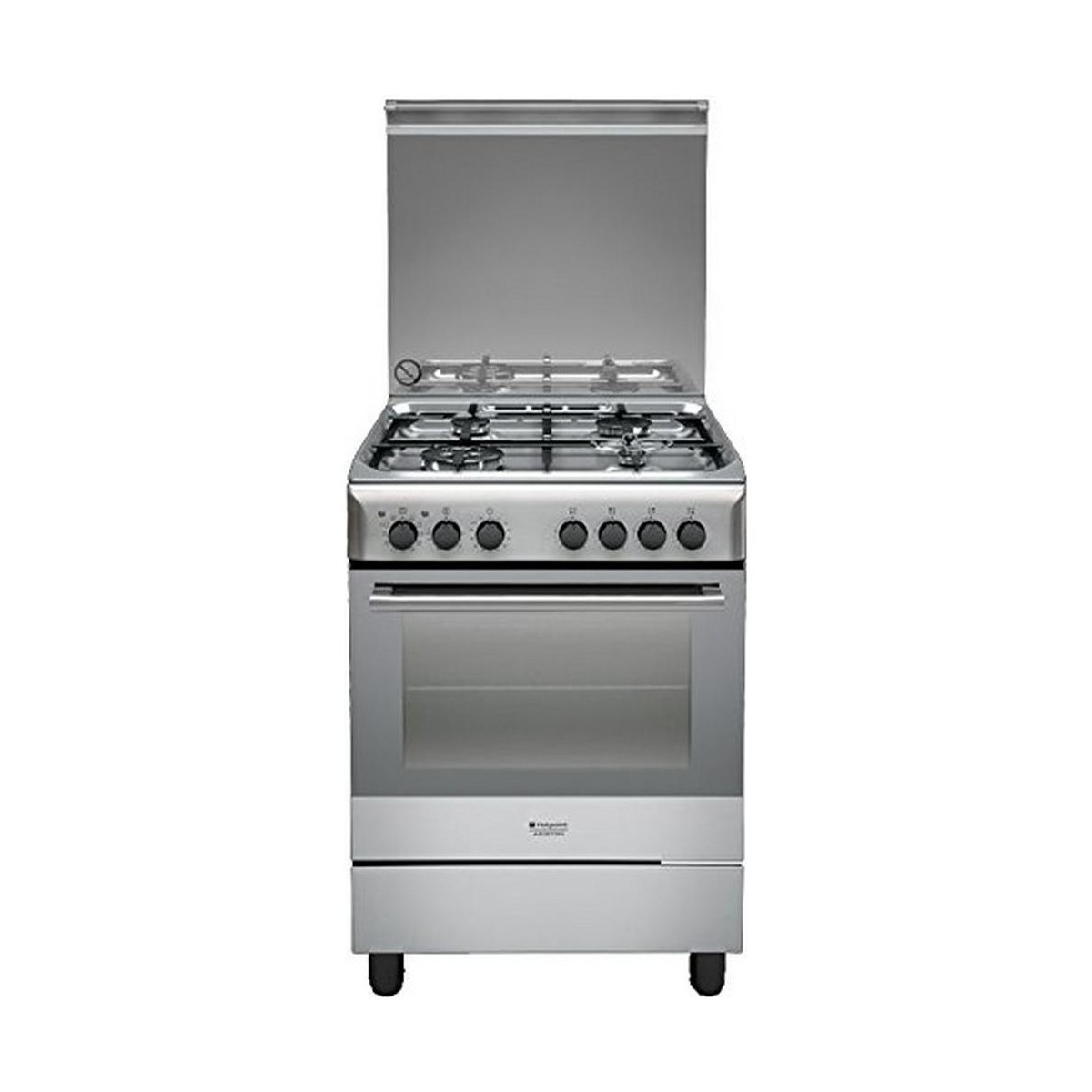 Lavasciuga A Gas Cucina Hotpoint Ariston H6tmh2af X 60x60 Con Forno