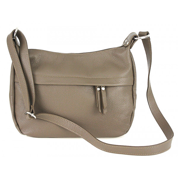 Leder Kuriertasche 392 Dunkel Taupe Made In Italy Mondo
