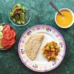 Simple and tasty homecooked lunch by my Indian mum Aloohellip