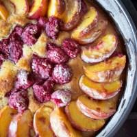 Peach and Raspberry Cake