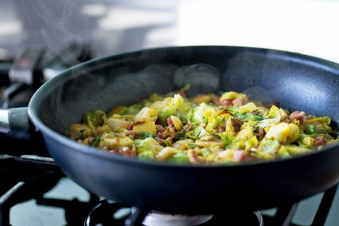 the cooked pasta and transfer into the pan with the Brussels sprouts ...