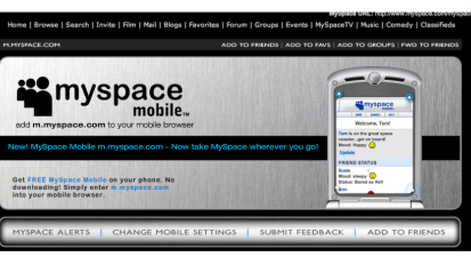 Myspace Mobile Officially Launches