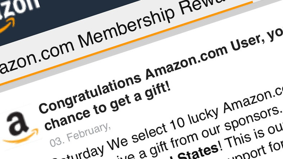 What is up with those \u0027Congratulations Amazon User\u0027 pop-up ads?