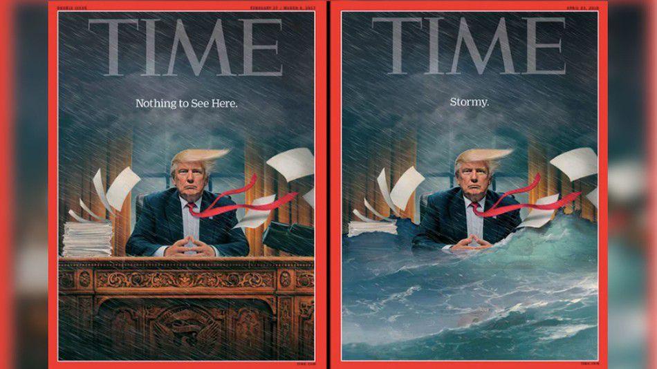 The dramatic new cover of \u0027Time\u0027 shows Trump \u0027in deep\u0027