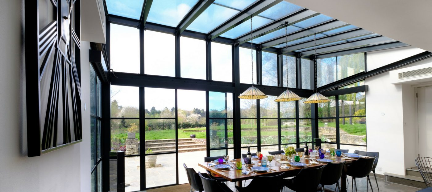 Glass Roof Extension Mondrian Glass Roofs Mondrian Glazing Steel Industrial Style