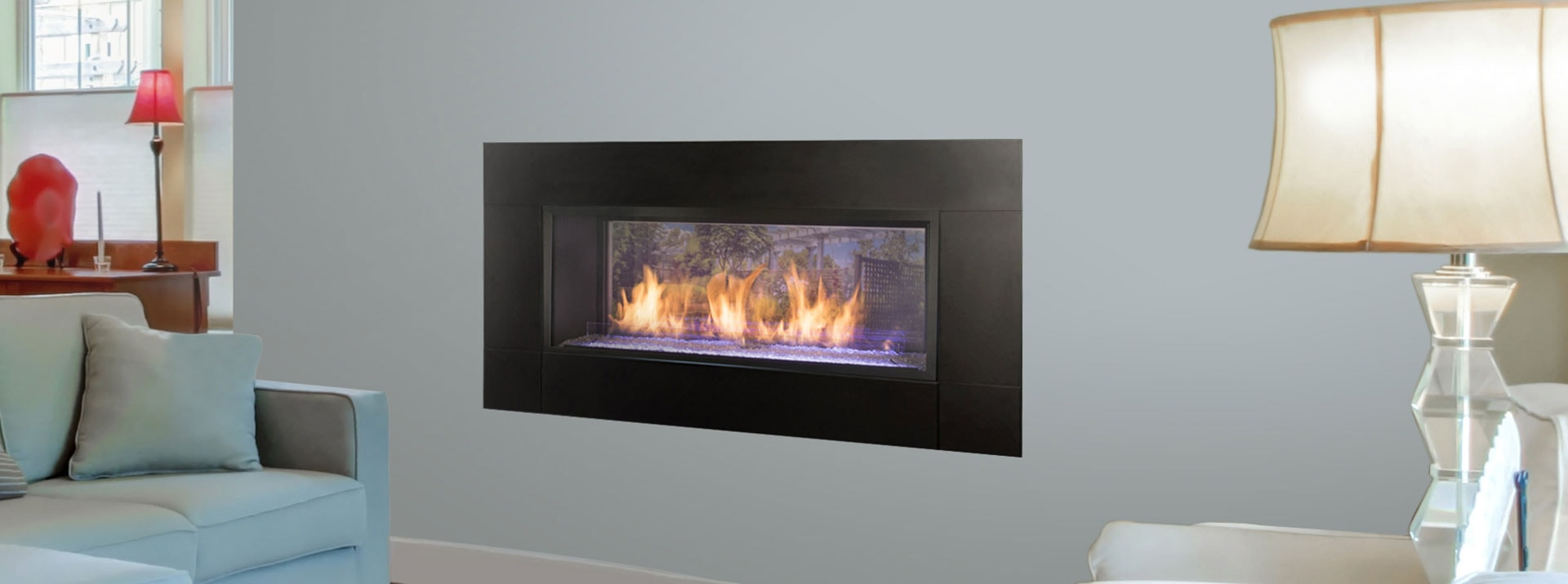 How Does A Vent Free Gas Fireplace Work Artisan See Through Vent Free Gas Fireplaces Monessen Hearth